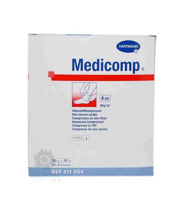 Medicomp Aposito Esteril 10 Cm X 10 Cm 25 Unidades
