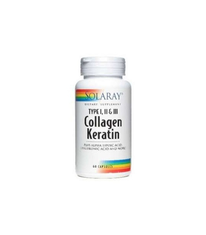 Solaray Collagen Keratin 60 Capsulas