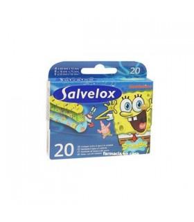 Salvelox Aposito Adhesivo Bob Esponja Infantil 20 U