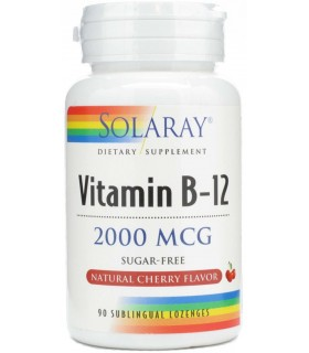 Solaray Vitamina B-12 2000Mcg 90 Comprimidos Sublinguales