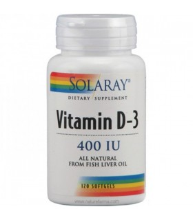 Solaray Vitamina D3 120 Capsulas