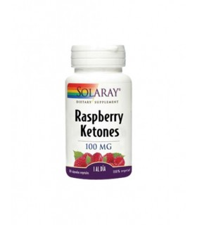 Solaray Raspberry Ketones 100 MG 30 Cápsulas