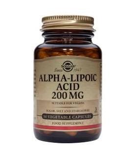 Solgar Alpha-Lipoic Acid 200 mg 50 Capsulas