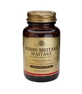 Solgar Reishi, Shiitake Y Maitake 50 Capsulas