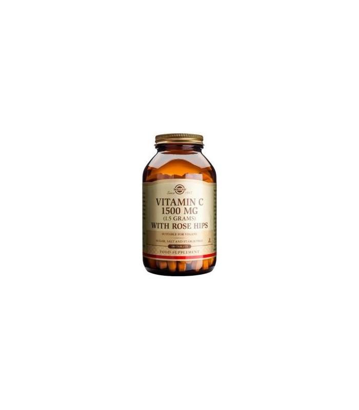 Solgar Vitamina C 1500 Mg With Rose Hips 100 Tabletas