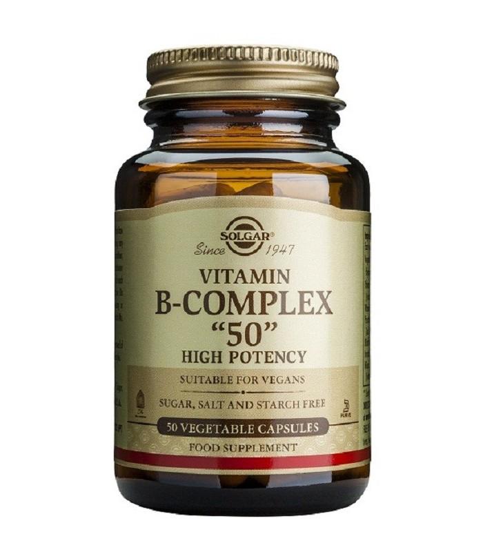 """Solgar Vitamina B-Complex """"50"""" 50 Capsulas"""