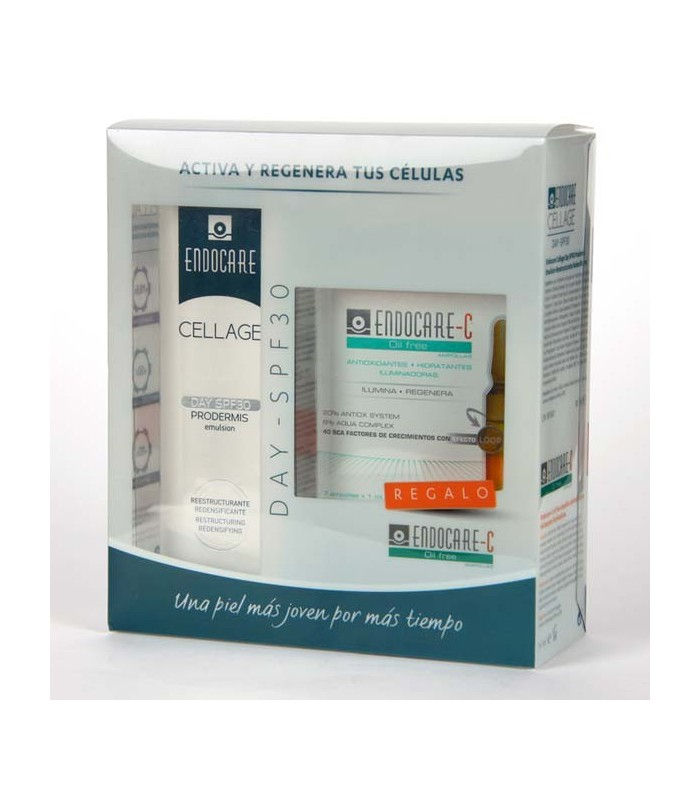 Endocare Cellage Day Spf30 Emulsion 50 Ml + 7 Ampollas Endocare Oil-Free 1 Ml