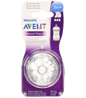 Philips Avent Tetina Natural Flujo Variable +3 Meses