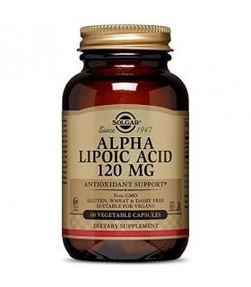 Solgar Acido Alfa Lipoico 120 mg 60 Capsulas