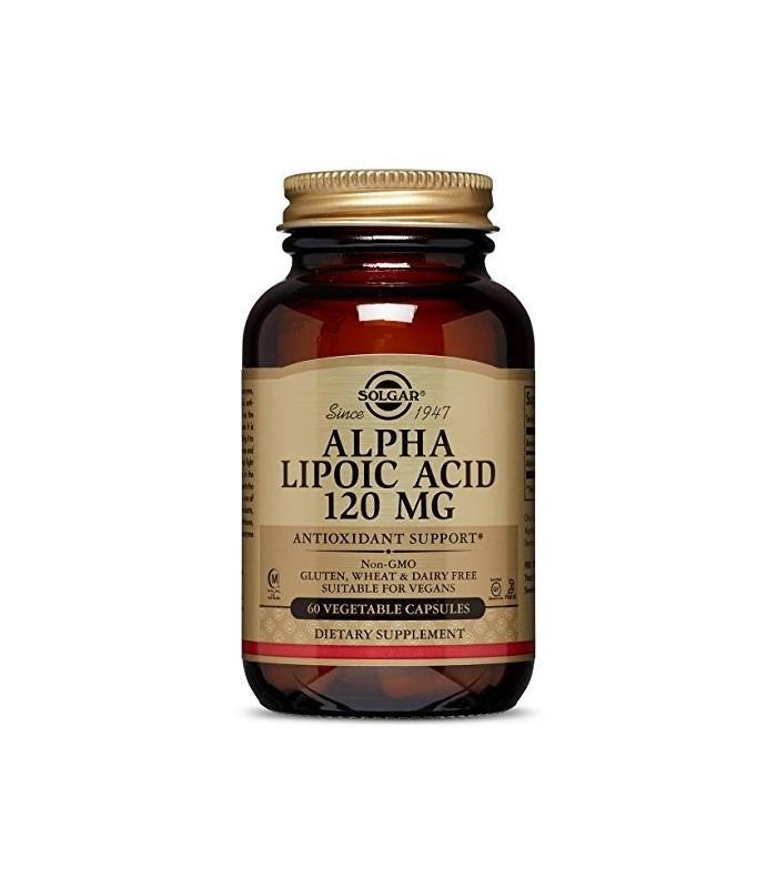 Solgar Acido Alfa Lipoico 120 Mg 60 Capulas