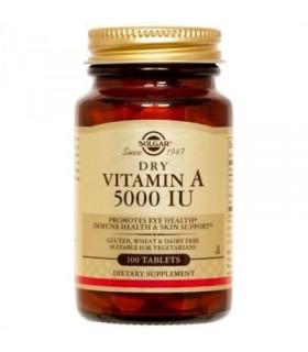 Solgar Vitamina A Seca 5000 IU 100 Cápsulas
