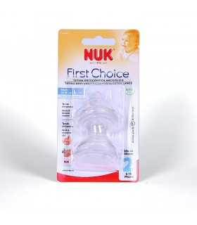 NUK TETINA SILICONA ANTICOLICO FIRST CHOICE 6-18 MESES