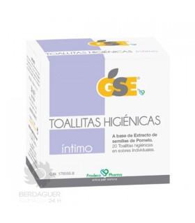GSE INTIMO TOALLITAS HIGIENICAS 50 ML (20 TOALLI