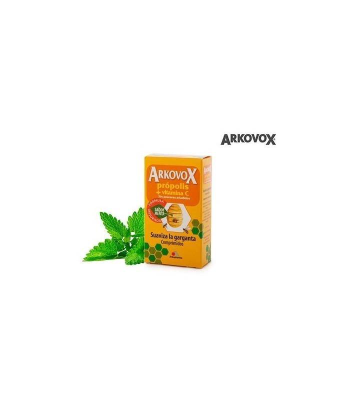 Arkovox Propolis + Vitamina C Menta 20 Comprimidos