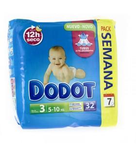Pañal Infantil Dodot T- 3 04-10 KG 32 Unds