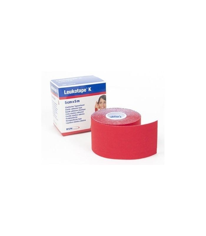 Leukotape K Rojo Cinta Adhesiva 5X5 Cm