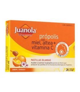 JUANOLA PASTILLAS BLANDAS PROPOLIS MIEL VIT C AL