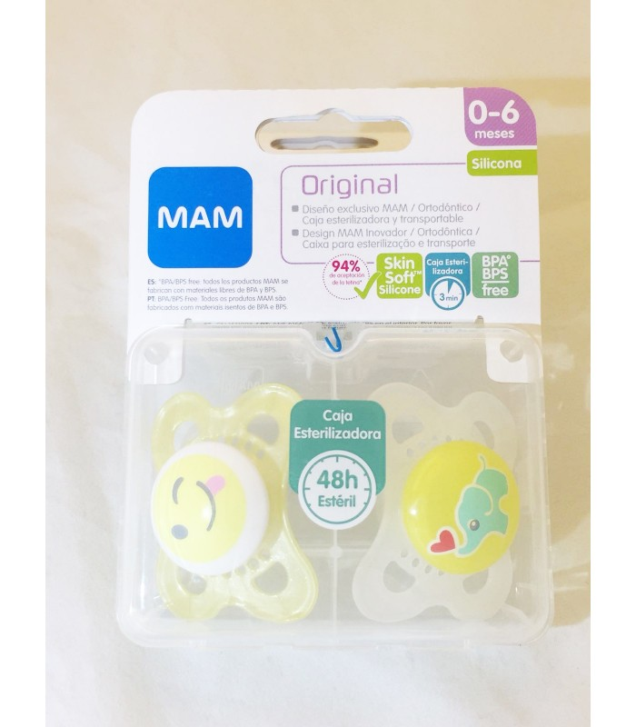 Mam Chupete Mini Silicona 0-6 Meses Pack Doble