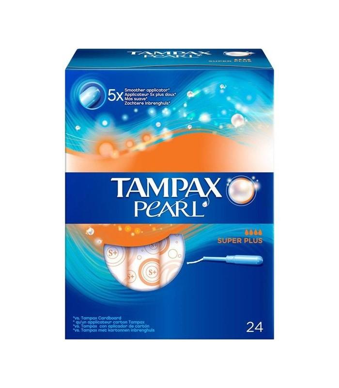 TAMPAX PEARL TAMPON 100%ALGODON SUPER PLUS 24 U