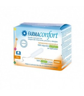 TAMPONES FARMACONFORT SUPER PLUS15 UNIDADES