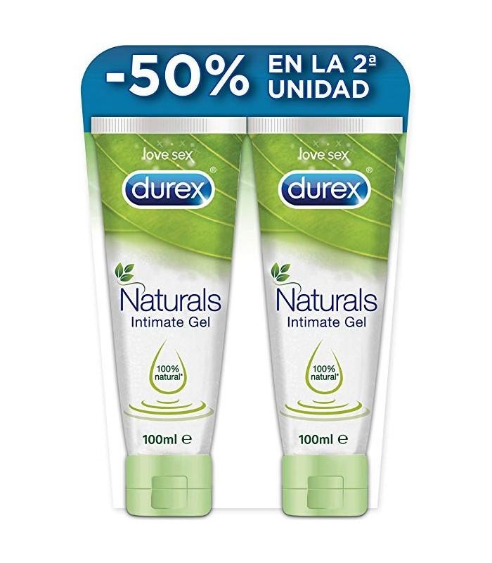 Durex Naturals Gel ÍNtimo 100% Natural 100 Ml + 100 Ml 50% 2º Unidad