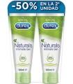 Durex Naturals Gel Intimate 100% Natural 100 Ml + 100 Ml 50% 2nd Unit