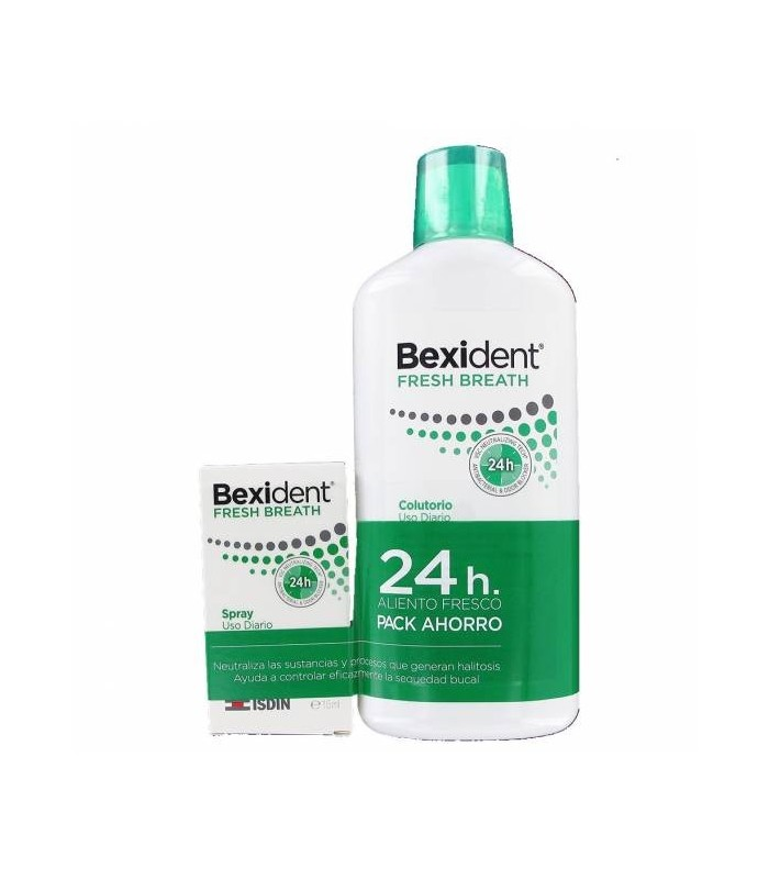 Bexident Fresh Breath Colutorio 500 ML + Spray 15 ML PACK