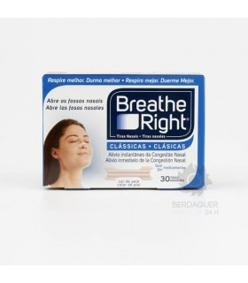 Tiras Nasales Breathe Right Med/Gde 30 U