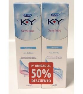 Durex KY Sensilube Lubricante Gel Intimo 75 Ml + 2ª Unidad 50%