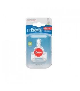 Dr Brown Tetina Silicona Recien Nacidos 2 U