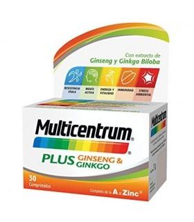 Multicentrum Plus Ginseng & Ginkgo 30 Comprimidos