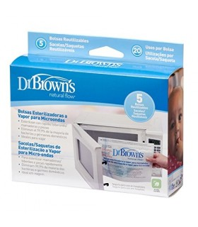 Dr Brown's Bolsas Esterilizadoras Microondas 5 Bolsas Reutilizables