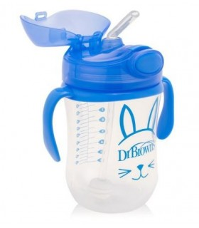 Dr Brown´s Vaso Con Pajita Niño/a 270 ML 6M+
