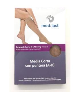 Medilast Media Corta con Puntera
