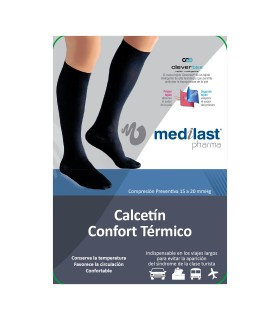 Medilast Calcetín Confort Térmico Negro Talla L