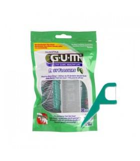 Gum Easy Flossers Seda Dental Aplicador 30 Unds
