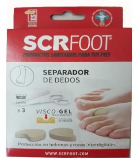 SCR Foot Separador De Dedos 3 Und Talla S + 3 Und Talla L
