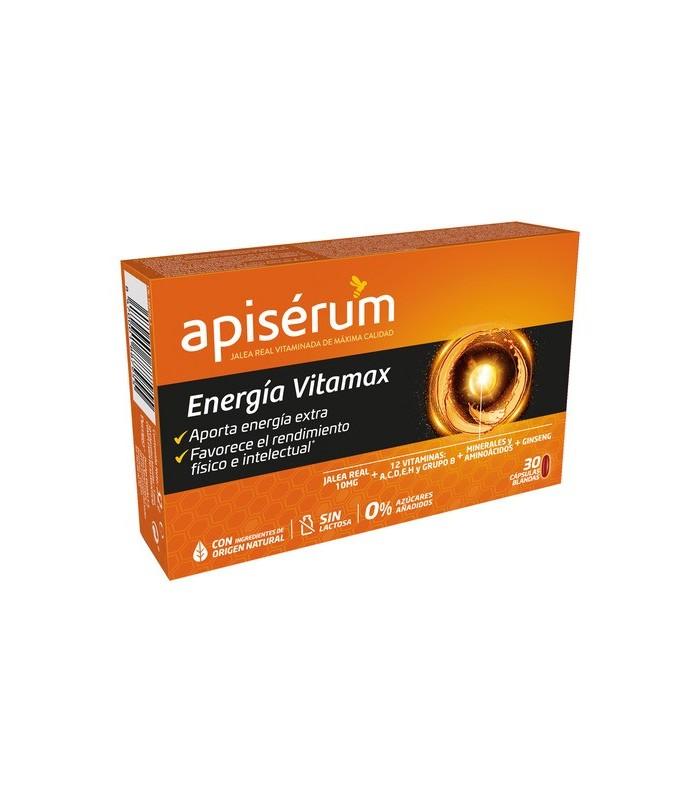 Apisérum Energía Vitamax 30 Cápsulas Blandas