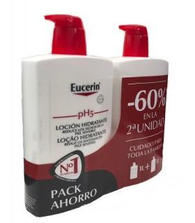 Eucerin Loción Hidratante Piel Sensible 1L Duplo 60% 2ª Und