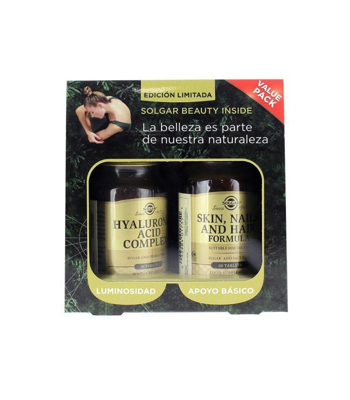 Solgar Hyaluronic Complex 30 Tablets + Skin, Nails And Hair 60 Tablets