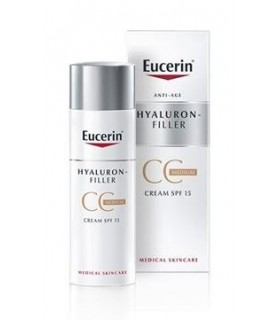 Eucerin Antiedad Hyaluron Filler CC Color Medio 50 ML