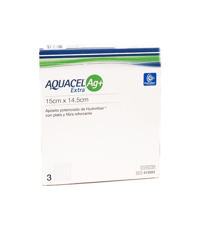 Aquacel Ag 15 Cm X 14,5 Cm  Aposito Esteril 3 Unidades