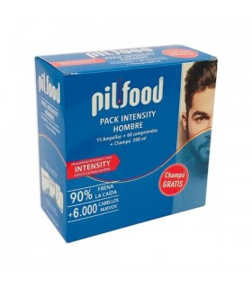 Pilfood Pack Intensity Men 60 Comp + 15 Amp + Champú 200 ML