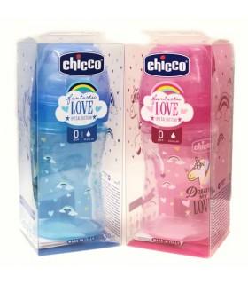 Chicco Biberón Plástico T Silicona Fantastic Special Edition 0M+ 150 ML Flujo Regular