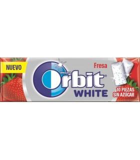 Orbit White Fresa 10 Grageas Sin Azúcar
