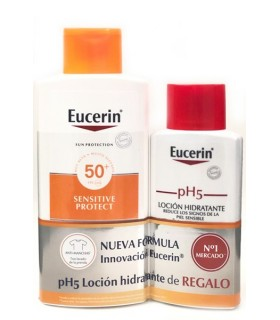 Eucerin Sun protection SPF50+ Sensitive Protect Kids 50 ML + Kids Sun Fluid GRATIS