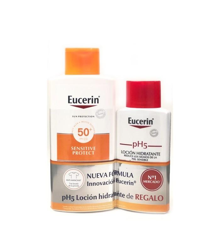 Eucerin Sun protection SPF50+ Sensitive Protect Kids 50 ML + Kids Sun Fluid GRATIS