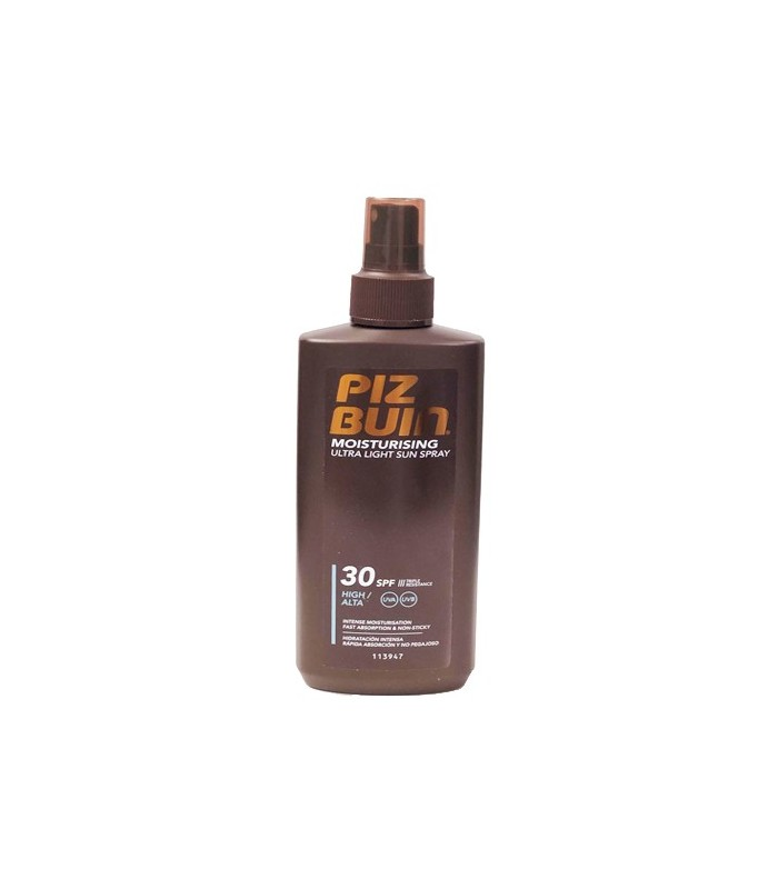 Piz Buin Moisturising Ultra Light FPS30 Spray Solar 200 ML