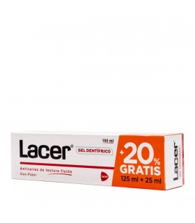 Lacer Gel Dentífrico Anticaries 125 ML + 25 ML GRATIS