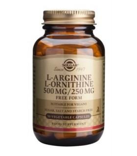 Solgar L-Arginina / L-Ornitina 500 Mg / 250 Mg 50 Capsulas